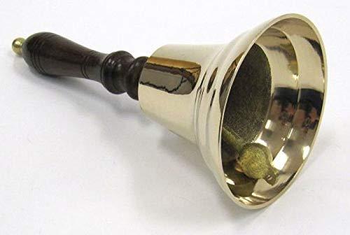 (PiggiesC Solid Brass School Hand Bell 8.5