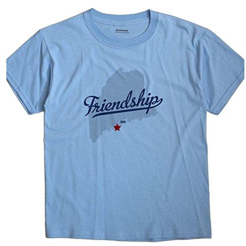 Friendship Maine Me Map Greatcitees Unisex Souvenir T Shirt