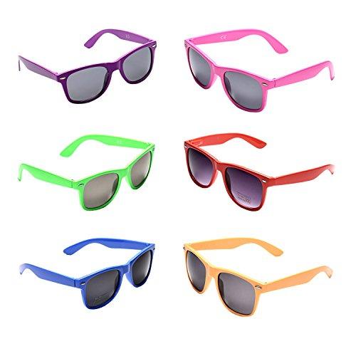 Oaonnea Neon Colors Sunglasses Party Favor Supplies for Bachelorette (6 pack sunglasses)