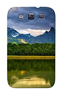 Christmas Gift - Tpu Case Cover For Galaxy S3 Strong Protect Case - Lake Sky Mountains Landscape Design