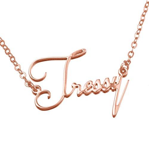 HOUSWEETY Namenskette- Personalisiert mit Ihrem eigenen Namen (Rose Gold)