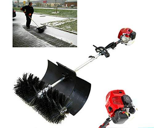 Sweeping Broom, Handheld Gas Powered Sweeper Cleaning Broom(52CC 2.3HP 1700W 2 Stroke Air Cooled Motor EPA Engine)