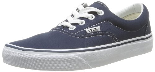Vans Unisex Era Skate Shoes, Classic Low-Top Lace-up Style in Durable Double-Stitched Canvas and Original Waffle Outsole Navy