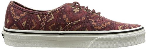 Vans U Authentic (Washed) - Zapatillas unisex (Tribe Rug) Red Clay