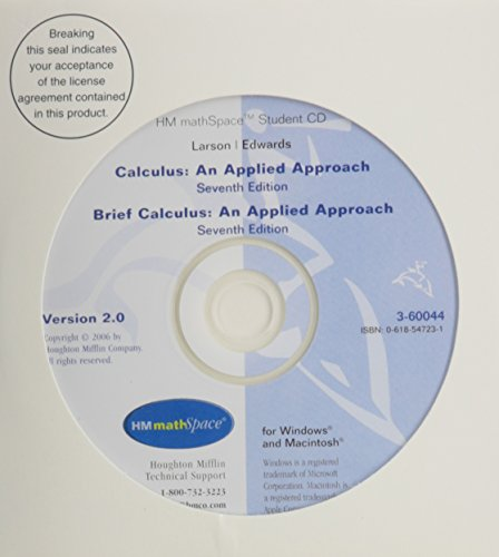 HM MATHSpace CD-ROM for Larson/Edwards' Calculus: An Applied Approach, 7th