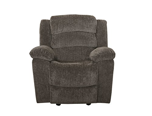 New Classic Austin Full Power Glider Recliner with Power Headrest, Stone (Power Glider)