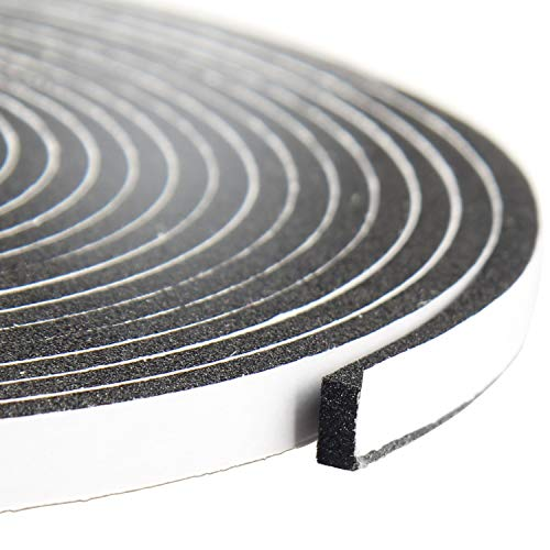 - Foam Tape 1/4 Inch Wide X 1/8 Inch Thick, Weather Stripping for Doors and Window High Density Foam Seal Tape Sliding Door Weather Strip, Total 50 Feet Long (3 Strips of 16.5 Ft Long Each)