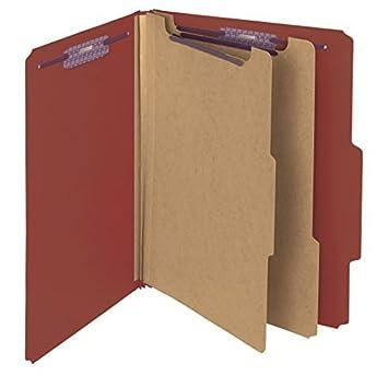 """Cartón Carpeta de clasificación de archivos con SafeShield Sujetadores, 2 divisores, 2 """""""