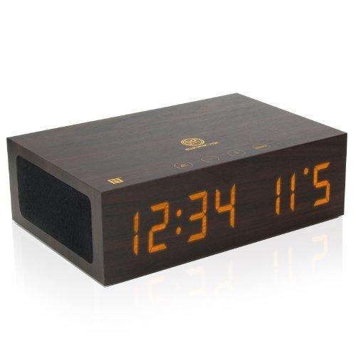 GOgroove 6 en 1 Despertador Digital / Bocina Bluetooth / Radio Reloj / Fecha/ Tecnología NFC / Micrófono para Celulares...