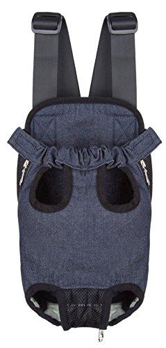 - S-Fire Dog Bag Chest Bag Pet Backpack Out Portable Pet Bag Chest Bag,Mesh Red,L