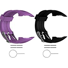 "2pcs Turnwin for Large Forerunner 15 and Forerunner 10 Bands and Straps Replacement Wristbands for Garmin Forerunner 10 and Forerunner 15 GPS Smart Watch (0.98"" x 0.94"") (25 x 24 mm) 2F"