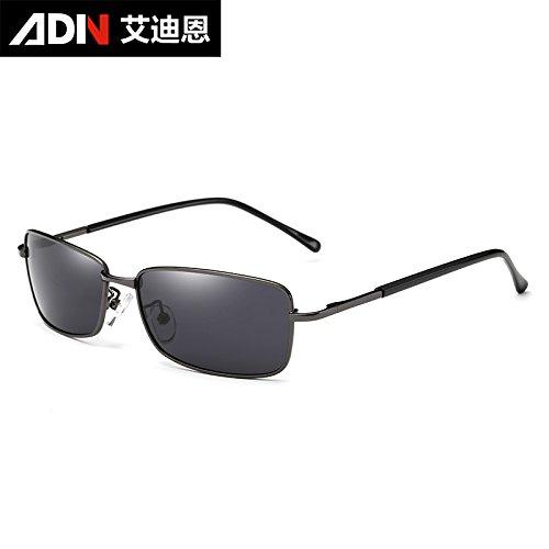 de conducción Frame negras KOMNY auténticas de pionero enfrentan de gafas Ash pequeña Bastidor los de espejo Black Pesca hombres de cenizas cuadrado gafas polarizadas Caja gafas sol cenizas Ash de pwqpSHT
