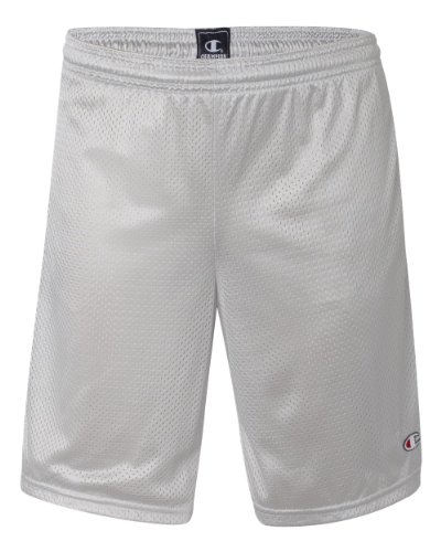 Champion Adult Mesh Short With Pockets (Athletic Gray) (M)