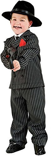 Italian Made Deluxe 5 Piece Baby & Older Boys 1920s Gangster Suit Fancy Dress Costume Outfit 0-12 years (10 years)]()