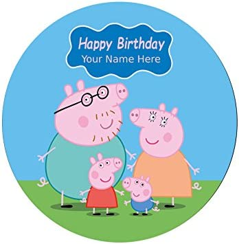 Peppa Pig personalizado impreso comestible decoración para ...