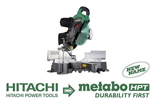 Metabo HPT C12RSH2S 12″ Sliding Compound Miter Saw, Double Bevel, Laser Marker, Compact Slide System, 15-Amp Motor, Large Sliding Fences, 5 Year Warranty