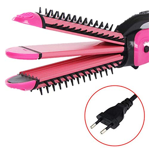 3 In 1 Hair Curling Iron Hair Straightener Multifunction Corrugated Iron Corn Plate Heated Roller Straightening Corrugated Iron,I