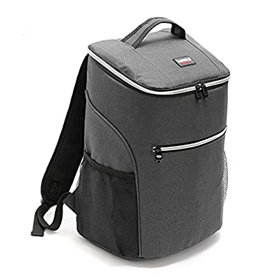 CHIVENIDO Cooler Backpack Cooler with Lightweight Insulated Backpack Picking Bag, Beach Bag, Solid Color Backpack 20L Hardbody Cooler (Gray) : Garden & Outdoor