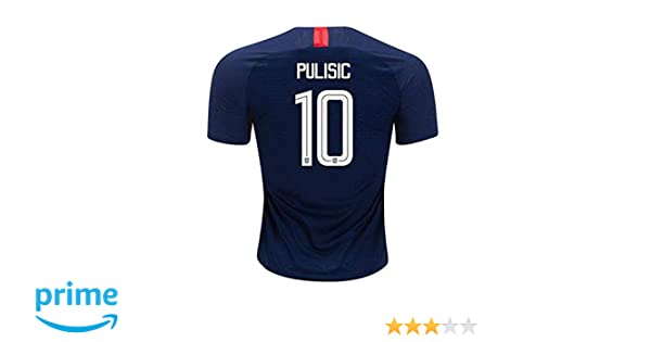 df0b9386c Amazon.com: Hsclxz Pulisic #10 USA Men's Away 18/19 Soccer Jersey Color Blue:  Clothing