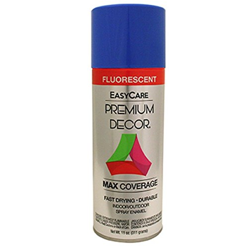 General Paint & Manufacturing PDFL-5 Premium Decor Fluorescent Spray Paint with 360-Degree Spray Tip, Neon Blue (Paint Spray Neon)