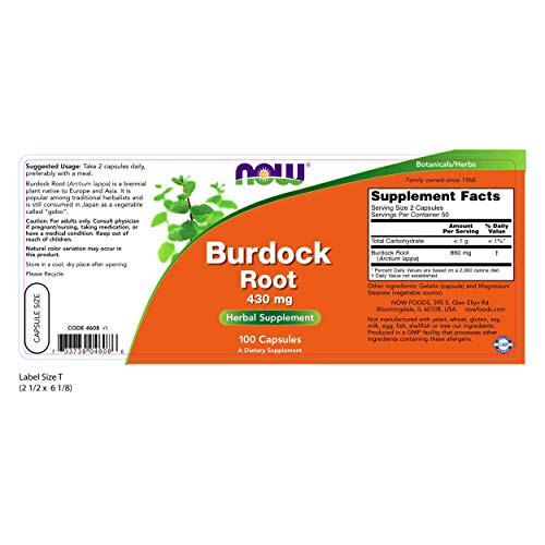 Cheap NOW Burdock Root 430 mg,100 Capsules