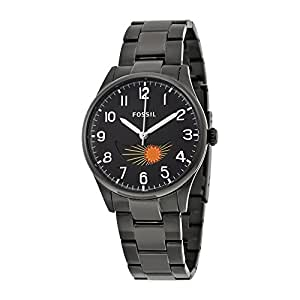 Fossil Agent Black Dial Black Stainless Steel Bracelet Mens Watch FS4849