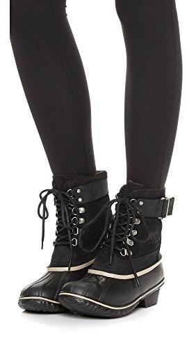 SOREL Women's Winter Fancy Lace II Mid Calf Boot Black/Silver/Sage