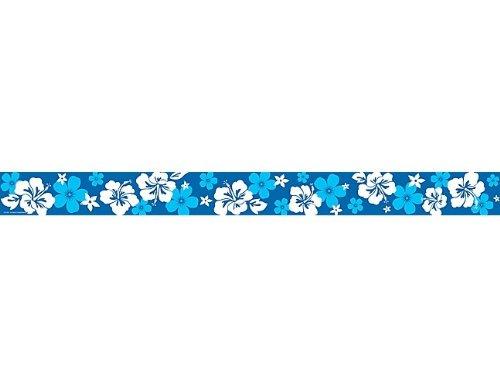 Blue Hibiscus Straight Border Trim