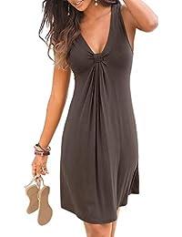 Women Halter Neck Boho Print Sleeveless Casual Mini Beachwear Dress Sundress