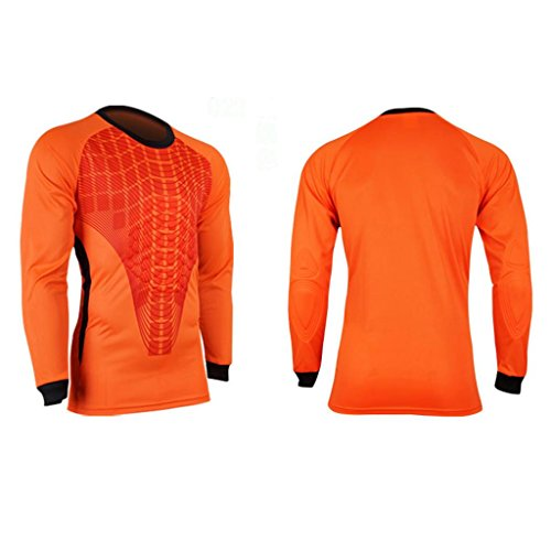 COOLOMG Mens Padded Jersey Shirt