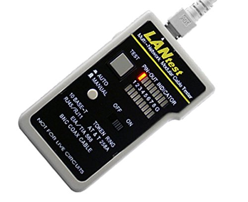 Network Cable LAN Tester, LANtest Kit - RoHS Compliant