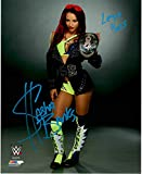 Sasha Banks hot WWE wrestling diva reprint signed