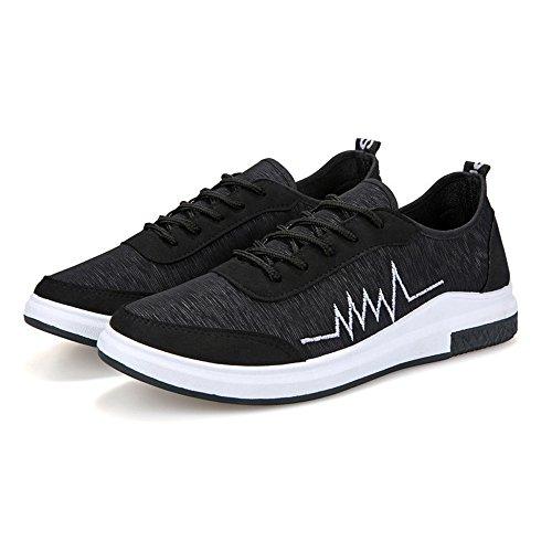 Meshone athletische Turnschuhe Magone-Männer, die zufällige Schuhe laufen lassen Schwarz
