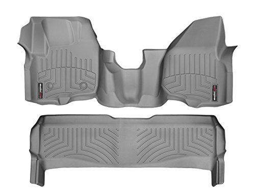 - WeatherTech (464341-463052 Over The Hump FloorLiner, Front/Rear, Gray