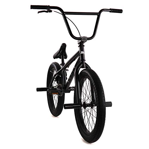 "Elite 20"" BMX Bicycle The Stealth Freestyle Bike (Matte Black)"