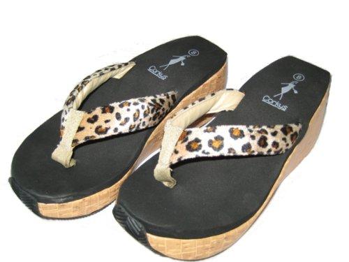 Sandali Con Zeppa Corkys (leopardo)