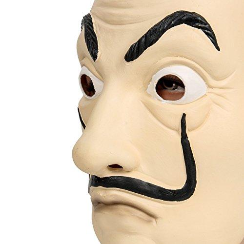 Zelante | Máscara de látex | Cosplay, Festivales TEMÁTICOS, Fiesta, Carnaval | La casa del Papel | Salvador DALÌ: Amazon.es: Juguetes y juegos