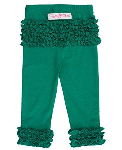 RuffleButts Little Girls Emerald Everyday Ruffle Leggings - 2T/3T]()