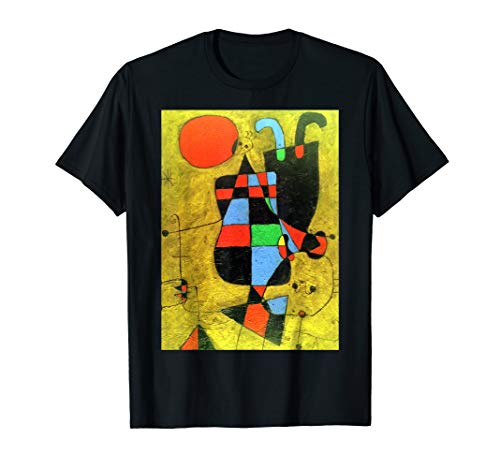 - Joan Miro, Figures and Dog in front of the Sun, 1949 T Shirt