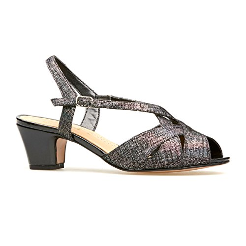 Black Libby Ii Manhattan Van Dal Leather Women's Slingbacks Heels qgBBvT4WA