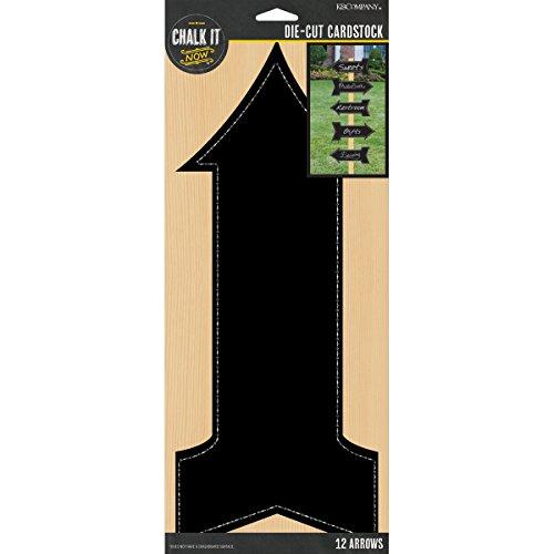 K&Company Chalk It Now Chalkboard Cardstock Die-Cuts, Arrows, 12-Pack -