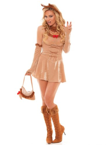 Lioness Halloween Costume (Sexy Lioness Costume, Tan, Small)