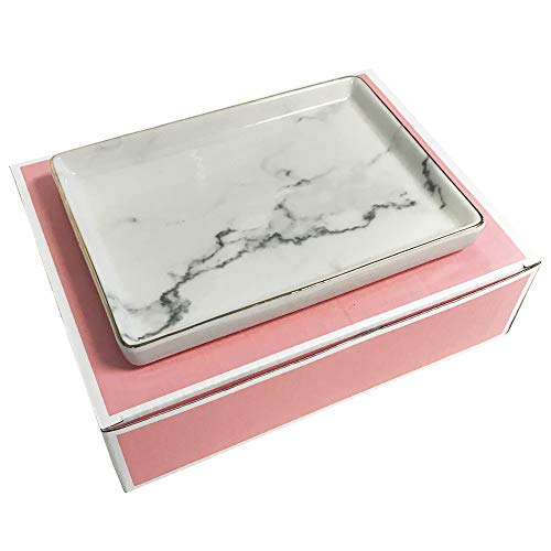Simple Shine Jewelry Dish Tray | Marble Pattern