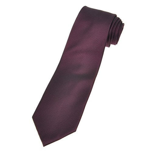 ZLYC Men's Handmade Luxurious Mulberry Silk Necktie Stripe Dot Plaid Pattern Tie Neck Tie, Wine Red - Handmade Mulberry
