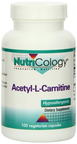 Nutricology Acetyl L-carnitine, 1000 Mg, Vegicaps, (Nutricology B6 Vitamins)