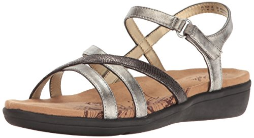 discount for sale buy cheap new styles Soft Style Hush Puppies Women's Paityn Flat Sandal Pewter clearance prices with mastercard sale online outlet shop for zIsb9MyW