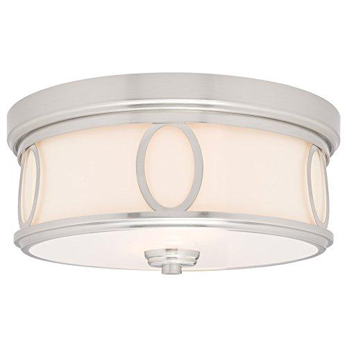 Retro Flush Two Light (Kira Home Simone Flush Mount (Brushed Nickel))