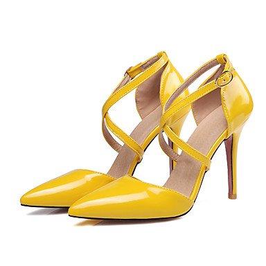 Talones de las mujeres Primavera Verano Otoño Invierno Otro de cuero oficina y carrera Fiesta y Noche Tacón de Aguja vestido BuckleBlack Rosa Amarillo Yellow