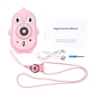 Senyar Children Camera, Children 3M Waterproof Kids Digital Camera 2.4 Inch IPS Screen with Silicone Cover Support Filter Game Support 6 Types Photo Stickers 8 Kinds Special Effects(Pink)
