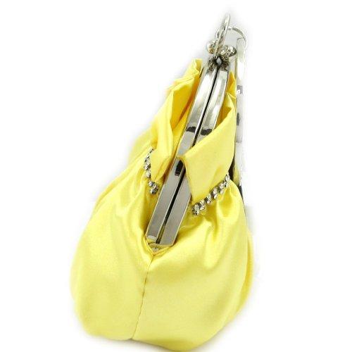 Bursa sac 'Nina'rhinestones amarillos.